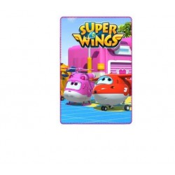 MANTA POLAR SUPER WINGS 100X150 CM AVIONES ROSA