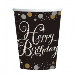 VASOS HAPPY BIRTHDAY 8 UND 266ML