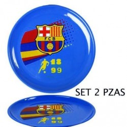 PLATOS FUTBOL CLUB BARCELONA 2 UNDS