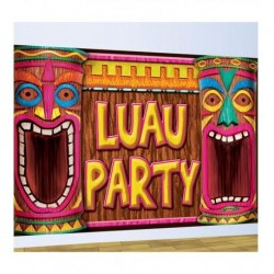 DECORACION PARED LUAU PARTY HAWAIANA 75X120 CM